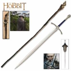 The Hobbit Gandalf Staff and Glamdring Sword Combo